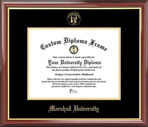 (Laminated Visuals Marshall University Thundering Herd - Embossed Seal - Mahogany Gold Trim - Diploma Frame)