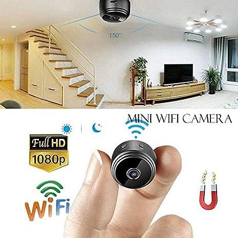 TEEPAO Mini Camara Espia Oculta Videocámara, 1080P HD Cámara Vigilancia Portátil, Segura Inalambrica Visión Nocturna Infrarroja Vigilancia 180° Ajustable ...