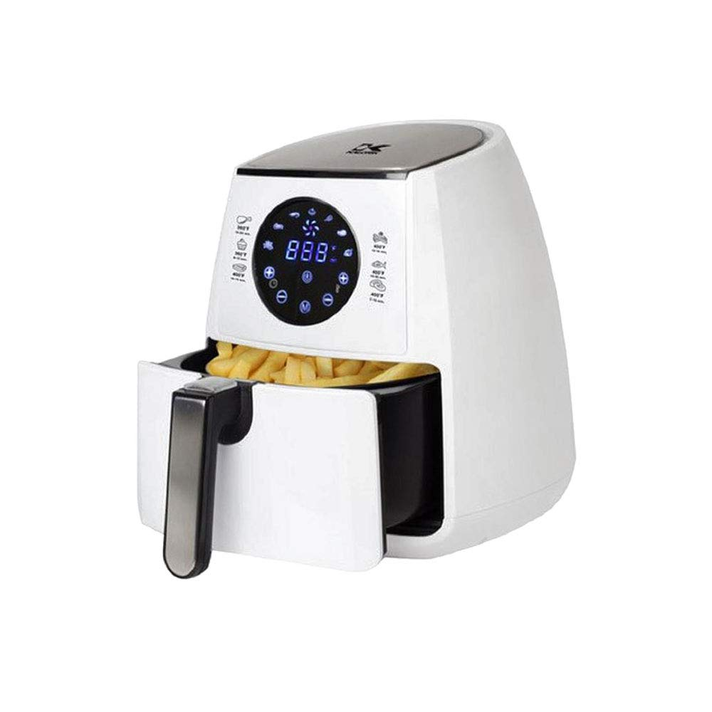 Kalorik FT 42174 WDL Electric Air Fryer Digital Display Nonstick Cool Touch Exterior Small White 3.2 Qt (White)