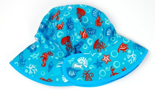 Kidz Banz Reversible Sunhat - Turquoise Sea Creatures - All