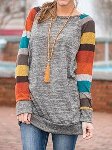 PinupArt-Womens-Cotton-Knitted-Long-Sleeve-Lightweight-Tunic-Sweatshirt-Tops