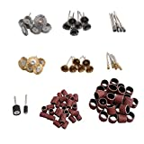 CNBTR 98PCS Abrasive Tools Set Rotary Tool Mill Cutter Sander Paper Wire Brush Polishing Head Grinding Accessories