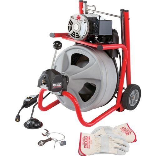 Ridgid 27013 K-400AF 115Volt C45IW Drum Machine with C45 Integral Wound Cable with Autofeed by Ridgid