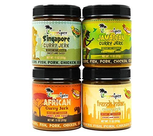 - Jamaican Jerk Seasoning Marinade Sauce Spice Authentic Season for Chicken BBQ Wings Pork Shrimp Spicy or Mild (Sweet and Sassy)
