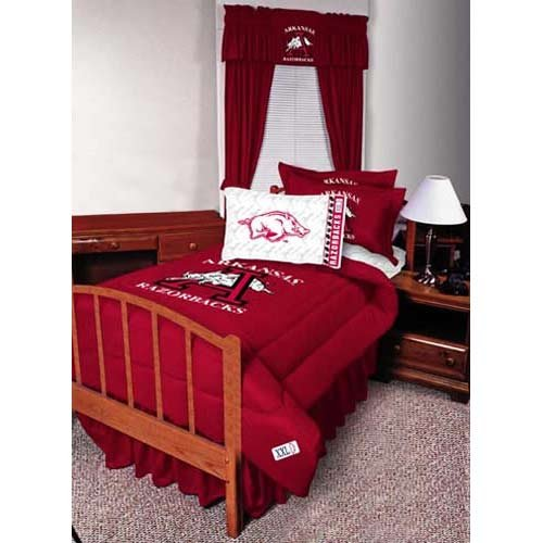 Arkansas Ncaa Sheet Set (NCAA Arkansas Razorbacks Micro Fiber Sheet Set (Queen))