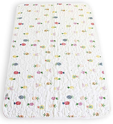 "Waterproof reusable washable bed pad. 100% cotton soft top layer. Large 27""x 43"" suitable for adults, toilet training toddlers children. Beautiful patterns. Anti-slip bottom layer."