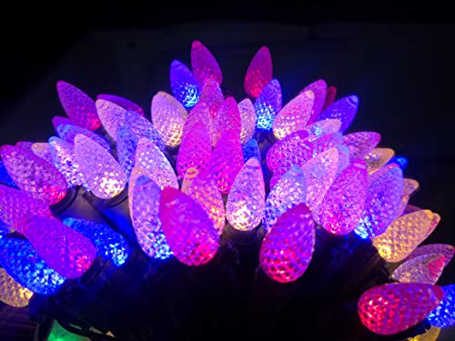 STAROSY Outdoor Led String Lights C3 Multi Color Christmas String Light with Remote for Outdoor Indoor Patio Garden Holiday Home Christmas Decorating
