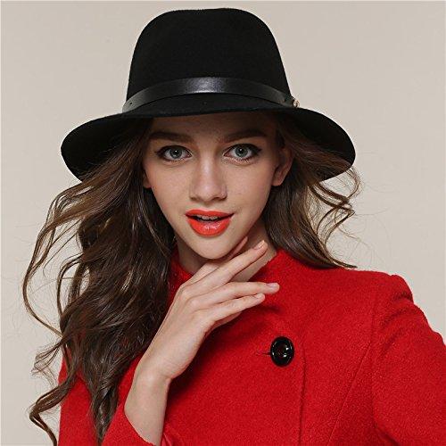 Mens Womens Chapeu Feminino Fedora Hat Leather Band Jazz Church Cap Panama Fedora