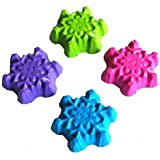 40 Snowflake Crayons by MinifigFans™ - Birthday Party Favors - 10 Sets of 4 - Made in the USA from Crayola Crayons