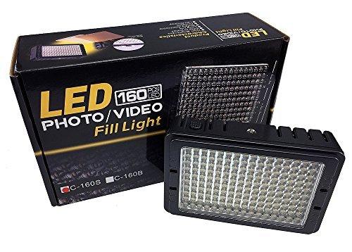 ePhotoInc Dimmable Ultra High Power Panel Digital DSLR Camera/Camcorder Video Light, LED Light PT160S by ePhoto