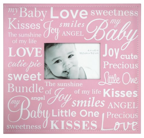 MCS MBI 13.5x12.5 Inch Baby Theme Scrapbook Album with 12x12 Inch Pages with Photo Opening, Pink (Baby Girl 12x12 Album)