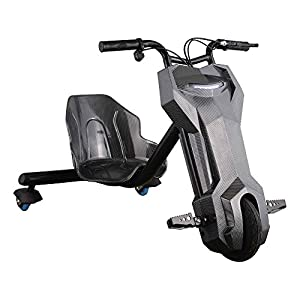 Ride-on Toys 24v 120w Motor Lithium Battery Electric Triker Drift Scooter, Black, 28 x 12
