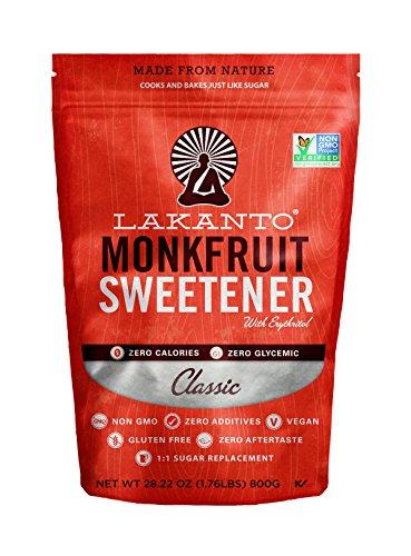 Lakanto Monk Fruit Sweetener All Natural Sugar Substitute, Classic White, 800