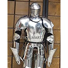 MEDIEVAL KNIGHT WEARABLE FULL SUIT OF ARMOR COLLECTIBLE ARMOUR COSTUME by NAUTICALMART