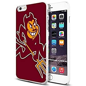 NCAA Arizona State Sun Devils , , Cool iphone 5s (+ , Inch) Smartphone Case Cover Collector iphone TPU Rubber Case White [By PhoneAholic]