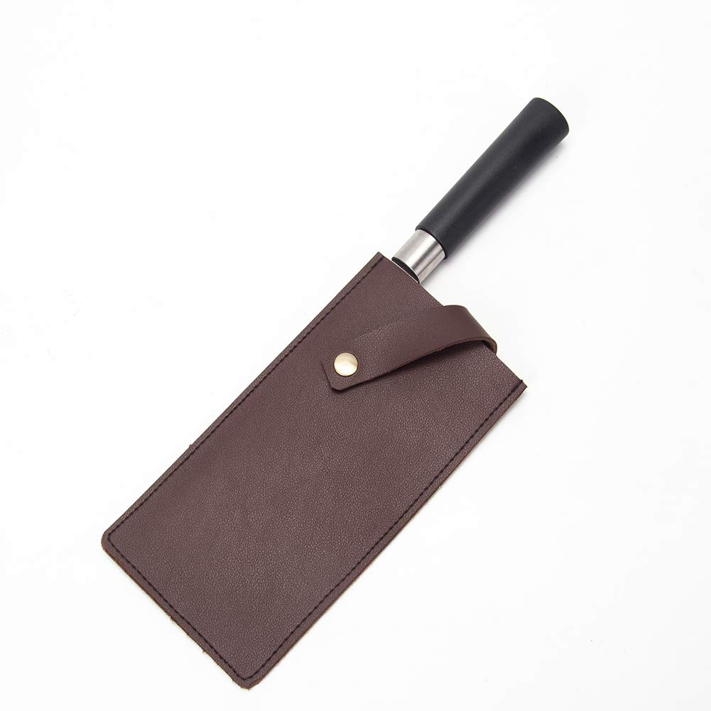 PU Leather Meat Cleaver Sheath, Waterproof Wide Knife Protectors, Durable Butcher Chef Knife Edge Guards, Heavy Duty Cleaver Covers (Dark Brown)