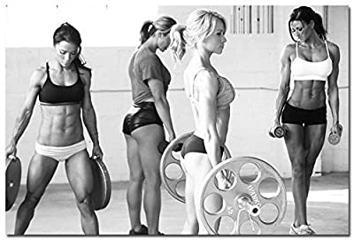 makeuseof Bodybuilding Girls Motivational Art Silk wall Poster 24x36 inch 024
