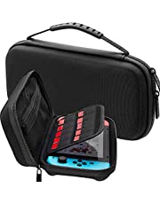 Switch Accessories Kit, VOKOO Nintendo Switch Carrying Case, Protective Case Cover, Tempered Screen Protector, Gaming Card Case and USB-C Charging Cable Compatible with Nintendo Switch, 7-in-1