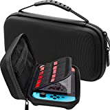 zip switch insert - Carrying Case for Nintendo Switch - Protective Hard Portable Travel Carrying Storage Bag Best Case for Nintendo Switch Console & Accessories BLACK