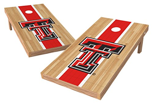 Wild Sports NCAA College Texas Tech Red Raiders 2' x 4' Hardwood Authentic Cornhole Game Set