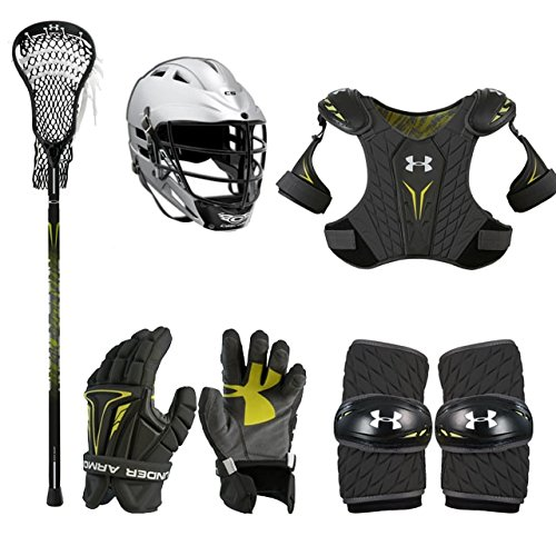 Boys Youth Lacrosse Starter Set w/Complete Stick (Cascade CS Helmet) SM