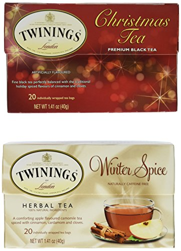 Twinings Tea - Christmas Tea & Winter Spice - 1 Box Each, 20 Tea Bags Per Box