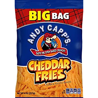 Andy Capp's Big Bag Cheddar Flavored Fries, 8 oz, 8 Pack