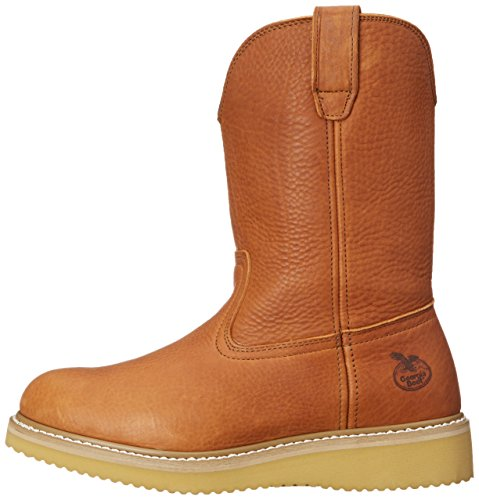 Georgia Boot Men's 12'' Wedge Wellington Work Boot,Barracuda Gold,8.5 W by Georgia (Image #5)