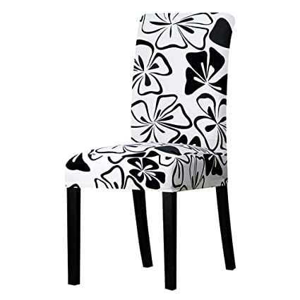 Admirable Amazon Com Hakazhi Black And White Chair Cover Seat Chair Caraccident5 Cool Chair Designs And Ideas Caraccident5Info