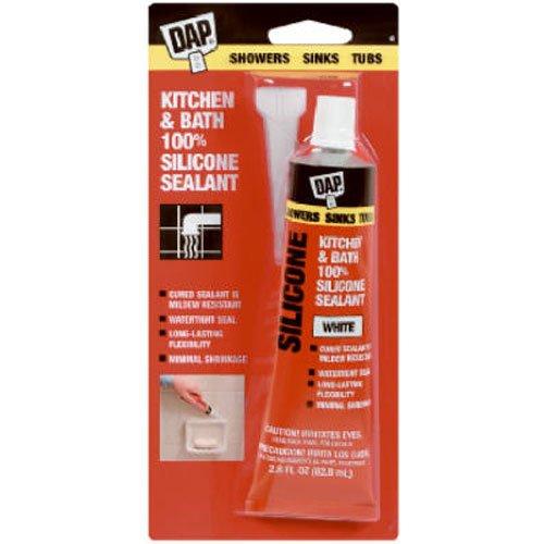 Sealant Dap Silicone Rubber (Dap 00680 Bathtub Silicone Rubber Caulk 2.8-Ounce, White)
