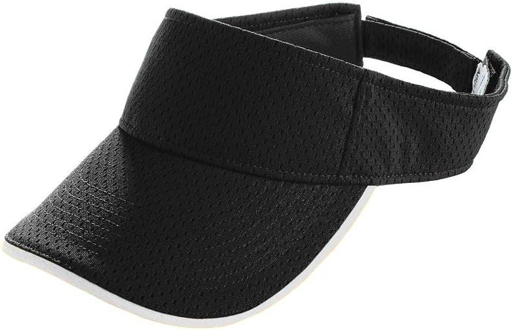 Augusta Sportswear Boys' One Size 6224, Black/White: Sports Fan Visors: Clothing
