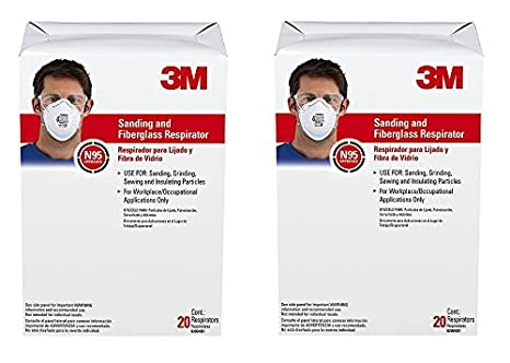 3M 8200 Particulate Respirator N95, 20-Pack 8200CLF