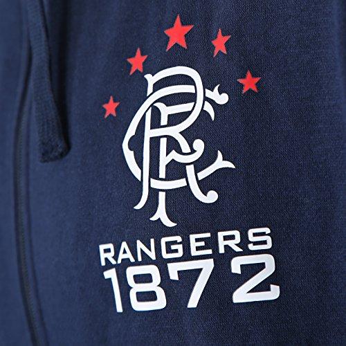 Geschenk f/ür Fu/ßballfans Herren Fleece-Sweatjacke mit Rei/ßverschluss Rangers FC Offizielles Merchandise