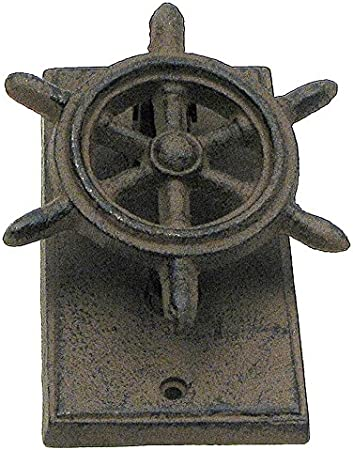 Cast Iron Ship Wheel Vintage Nautical Door Knocker