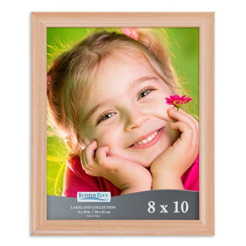 Icona Bay 8 by 10 Inch Picture Frames (8x10, 6 Pack, Beechwood Finish), Photo Frame Set For Wall Hang or Table Top, Lakeland Collection by Icona Bay (Image #2)