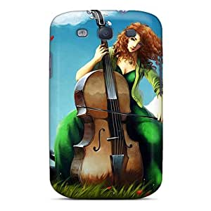 New Design Shatterproof FUkcwEK7222yEsiq Case For Galaxy S3 (summer Music)
