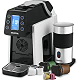 (US) Gourmia GCM5000 One Touch Multi Capsule Coffee Machine, Compatible With Nespresso, K-Cup Pods & More, Built In Milk Frothier, Adjustable Temperature & Size, Digital Display - White