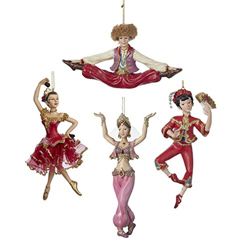 Dance Ornaments Set of 4 Spanish Russian Sexy Arabian Belly Dancer & Chines (Spanish Sexy)