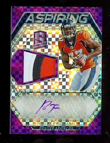 CR) Panini Spectra Aspiring Rookie Autograph Royce Freeman /35 Broncos - Panini Certified - Football Slabbed Autographed Rookie Cards