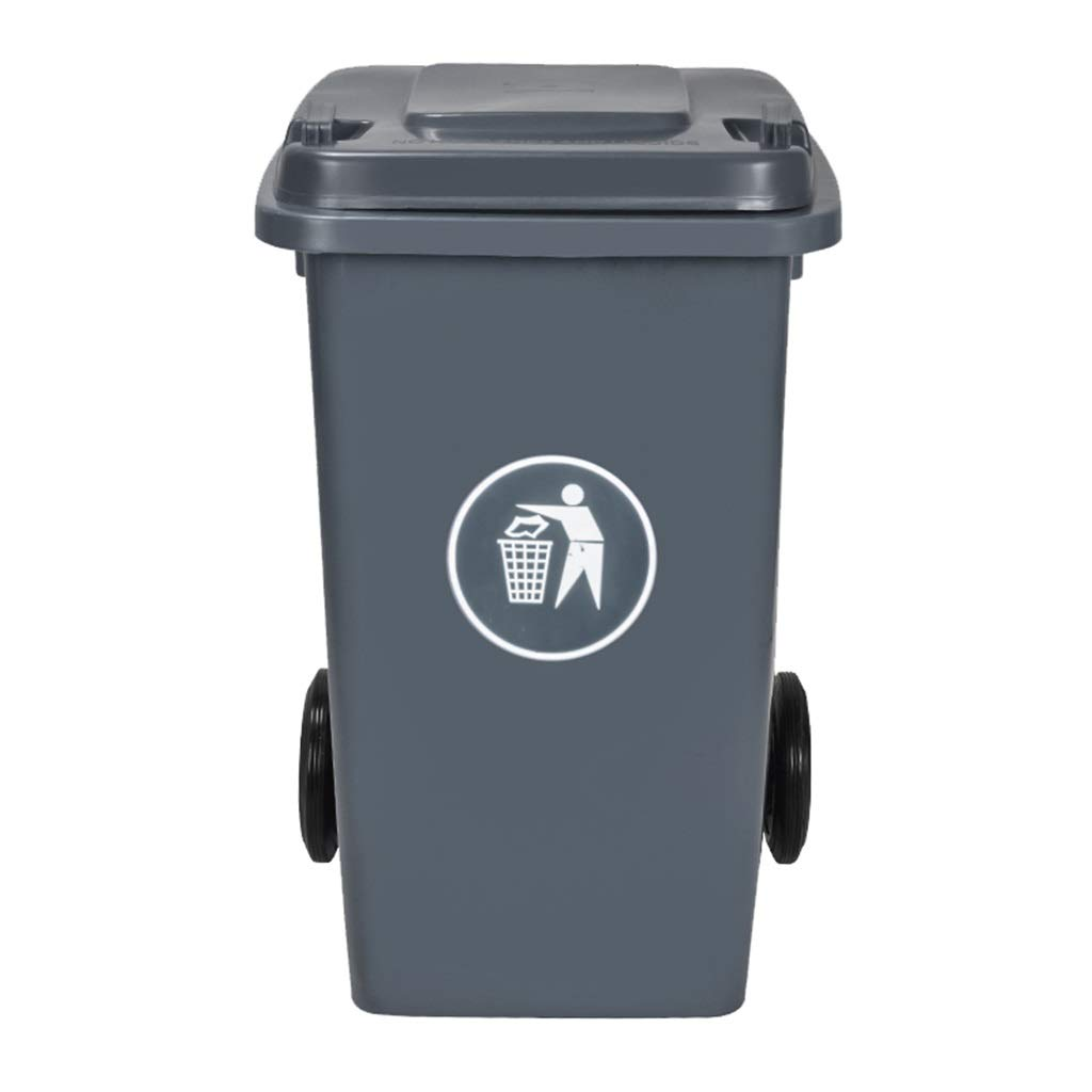 Trash can Waste Bin Thicken Outdoor Environmental Classification Plastic with Lid Flip Outdoor Trash Can Hotel Large Trash (Size : 100L)