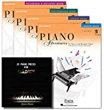 Faber Piano Adventures Level 2B Learning Library Set Lesson,Theory, Performance, Technique & Artistry Books and Juliet Music Manuscript Book
