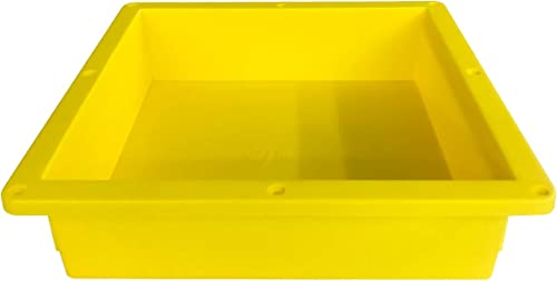 Uni-Green Single Recessed Shower niche Yellow, 14 x14 x4 D for Bathroom Niche Storage and Built In Shower Shelf