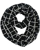 Luxury Divas Lightweight Grid Check Pattern Circle Infinity Scarf