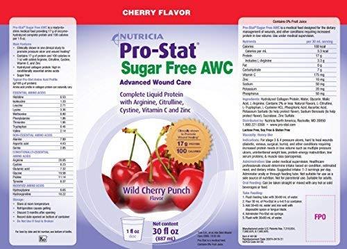 (Pro-Stat Sugar Free AWC, Wild Cherry Punch, 30 fl oz by Pro-Stat)