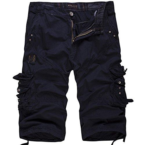 Foncé Homme Cargo Ceinture Bleu Pantacourt Vintage Multi De Shorts Loisir Outdoor Uni Wslcn Coton Travail poches 100 sans Bermudas AwSxqcdU