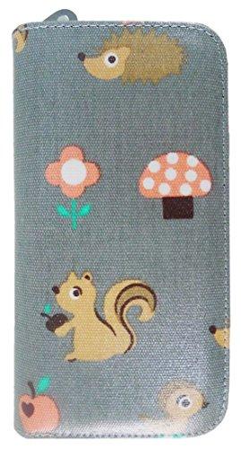 Kukubird Divers Chats Animaux De Licornes Ancre Parapluie Motif Floral Grande Dames Sac Clutch Wallet Critters Grey