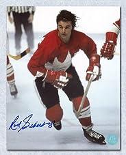 Rod Gilbert Team Canada Autographed 1972 Summit Series 8x10 Photo