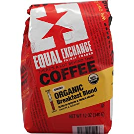 Equal Exchange Coffee, Drip, Breakfast Blend OG1 12 oz. (Pack of 6) 1