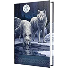 Lisa Parker Warrior's Winter White Wolves Hard Cover Embossed Collector Journal Book
