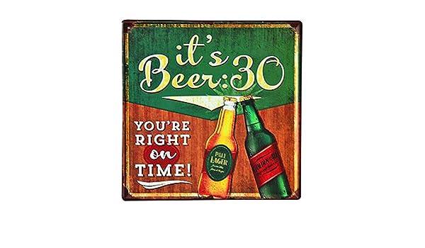 Doitsa 1pcs Cartel de Chapa Vintage Plaza - Its Beer 30 ...